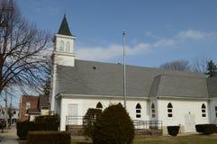 教会老城镇水彩 免版税图库摄影