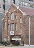 教会老城镇水彩 免版税库存图片