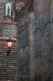 教会老墙壁 免版税库存图片