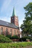 教会老尖顶 免版税库存图片