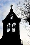 教会老尖顶 库存照片