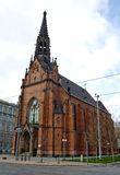 教会老尖顶 库存图片