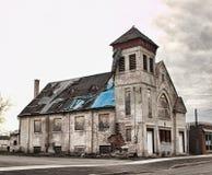 教会老废墟 免版税库存照片