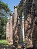 教会老废墟 库存图片