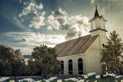 教会老木 免版税库存照片