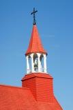教会老tadoussac 免版税库存照片