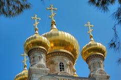 教会耶路撒冷俄语 库存图片