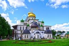 教会耶路撒冷修道院新voskesensky 免版税库存照片
