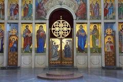 教会艺术在塞尔维亚 图库摄影