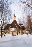 教会芬兰lappeenranta玛丽圣徒 免版税库存照片
