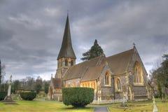 教会英国hdr老照片 库存照片