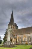 教会英国hdr老照片 库存图片