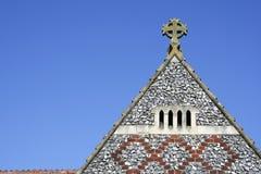 教会英国hertforshire老屋顶 图库摄影