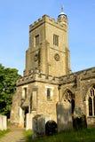 教会英语典型的村庄 库存照片