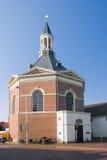教会荷兰语村庄 免版税库存照片