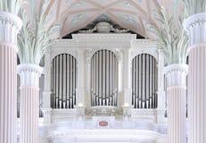 教会莱比锡尼古拉斯器官st 免版税库存照片