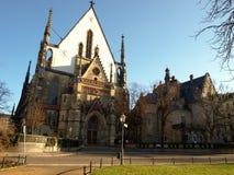 教会莱比锡thomaskirche 免版税库存照片