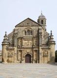 教会萨尔瓦多ubeda 库存图片