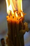 教会蜡烛光 免版税库存照片