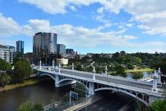 教会街道桥梁-墨尔本 库存图片