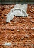 教会被毁坏的墙壁 图库摄影