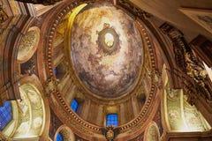教会装饰天花板在维也纳,奥地利 免版税库存图片