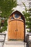 教会装饰门 库存图片