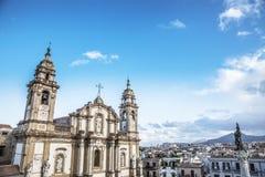 教会西班牙托钵僧圣徒 免版税库存图片
