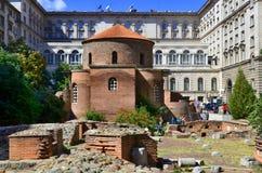 1360年教会设立了乔治的st是年的修道院vladychny serpukhov 图库摄影