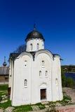1360年教会设立了乔治的st是年的修道院vladychny serpukhov 免版税图库摄影