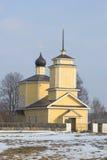 1360年教会设立了乔治的st是年的修道院vladychny serpukhov Gorodishche Voronich,血污的Pushkinskiye 免版税库存照片