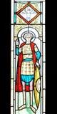 教会详细资料被弄脏的玻璃正统罗马尼亚 免版税库存图片