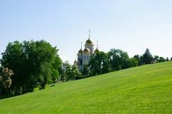 教会诸圣日在Mamaev的库尔干,俄罗斯伏尔加格勒 免版税库存图片