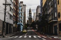 教会诺萨Senhora da Consolação的正面图 免版税图库摄影