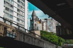教会诺萨Senhora da Consolação的特别看法 库存图片
