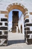 教会费埃特文图拉岛la oliva 库存图片