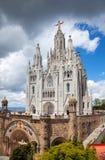 教会赎罪的重点神圣的耶稣 巴塞罗那西班牙 库存照片