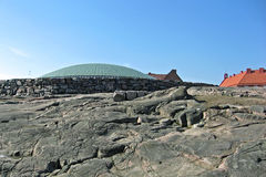 教会赫尔辛基岩石temppeliaukio 免版税图库摄影