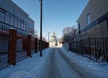 教会路 免版税库存照片