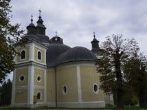 教会达鲁瓦尔,克罗地亚 图库摄影