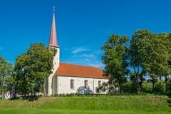 教会迈克尔st Johvi,爱沙尼亚 免版税库存照片