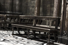 教会长凳,红外 免版税库存图片