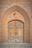 教会门在赫尔新哥 免版税库存照片