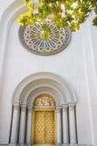 教会门方式和泰国艺术教会门纹理 免版税库存照片