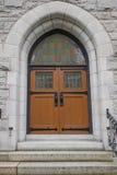 教会门有历史老 图库摄影