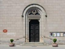 教会门道入口 库存照片