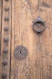 教会门锁, Pollenca,马略卡 免版税库存图片