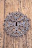 教会门锁, Pollenca,马略卡 库存照片