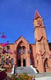 教会门面哥特式样式 免版税库存图片