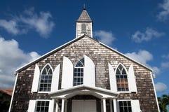 教会门面老牌 免版税库存图片